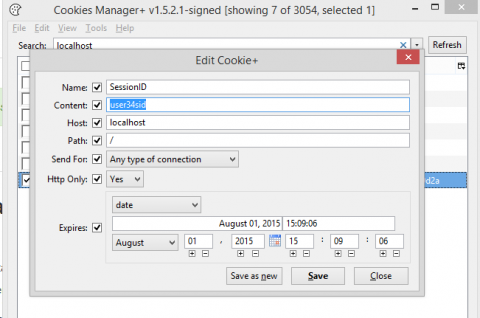Session Identifier Cookie